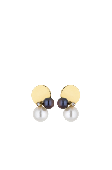 BE005 - Gold Circles Balance Earrings
