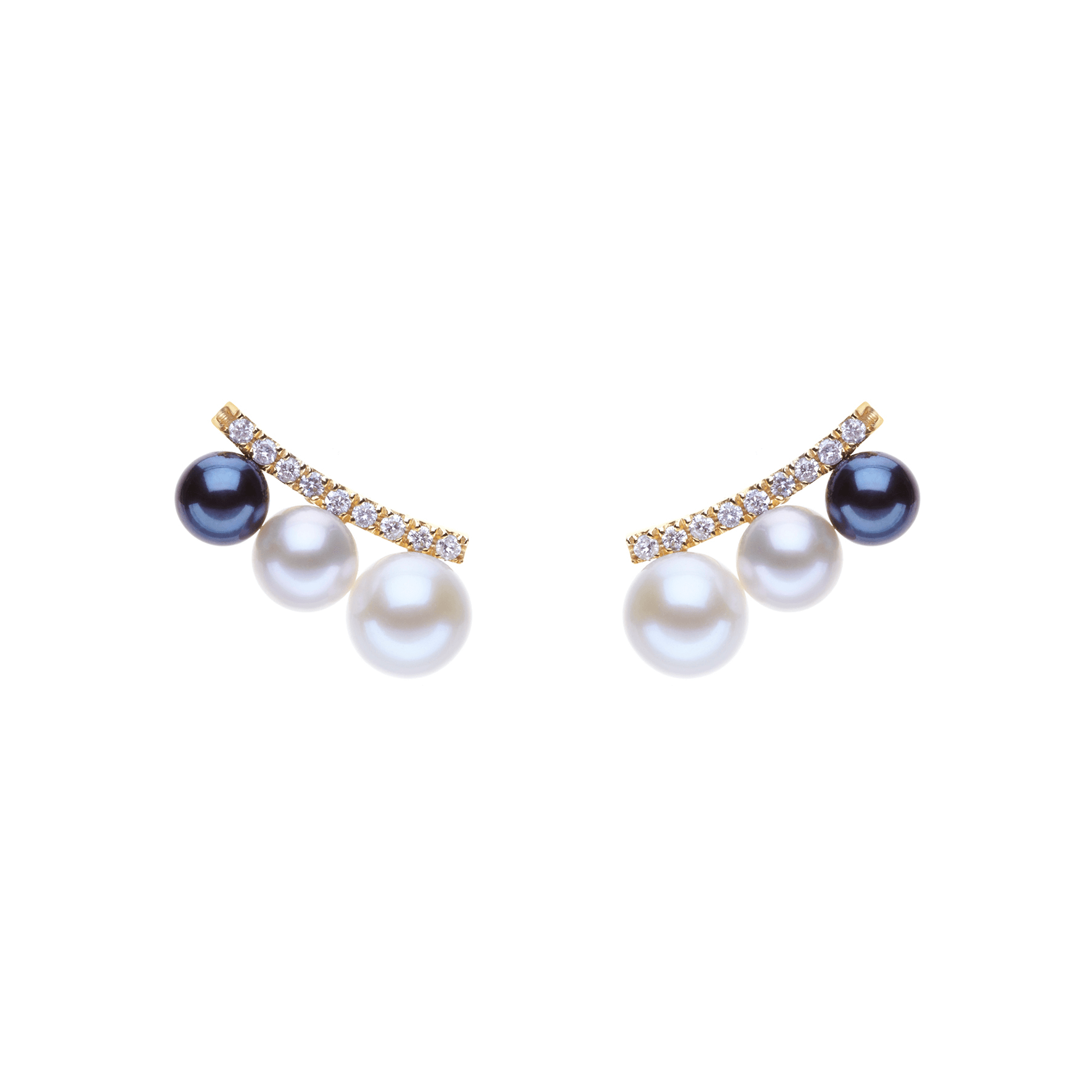 BE004 - Diamond Earlobe Balance Earrings