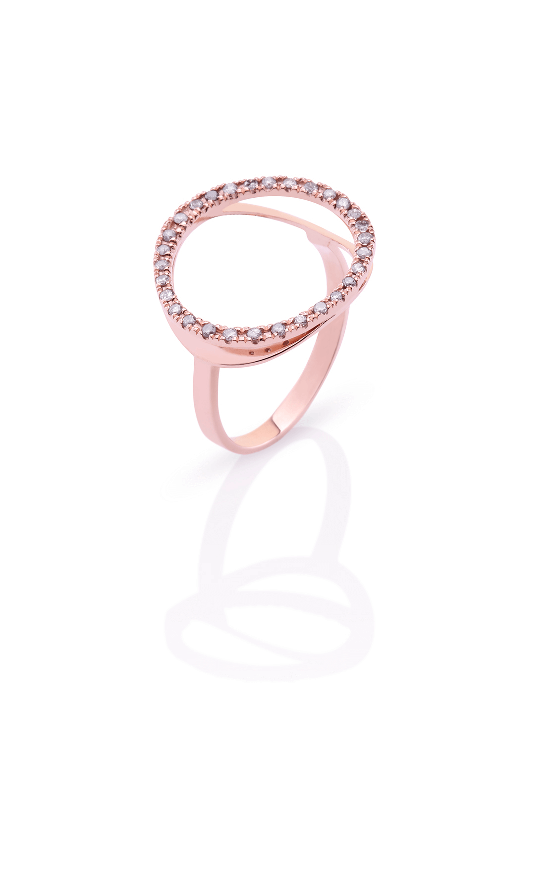 CER006 - Diamond Circle Ring