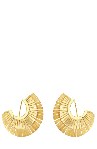 FRE005 - Fragments Double Row Sun Fringes Earrings