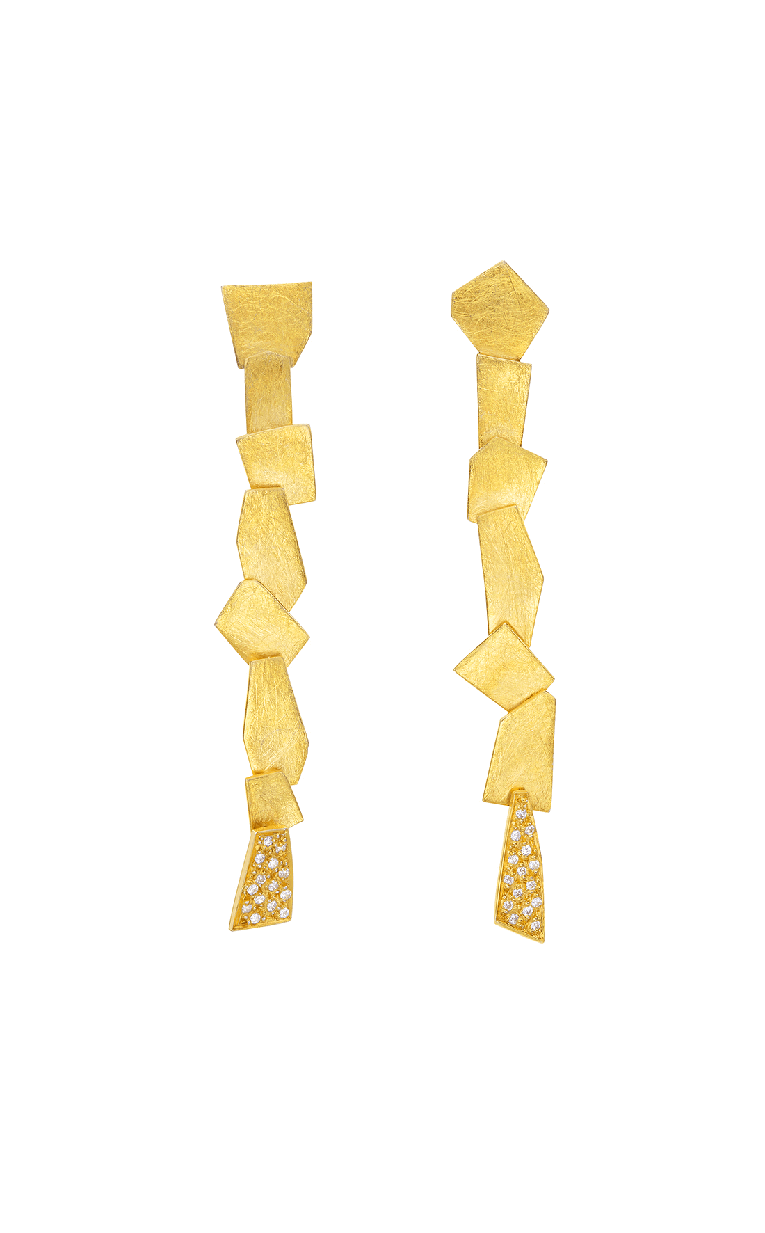 FRE001 - Golden Fragments Earrings