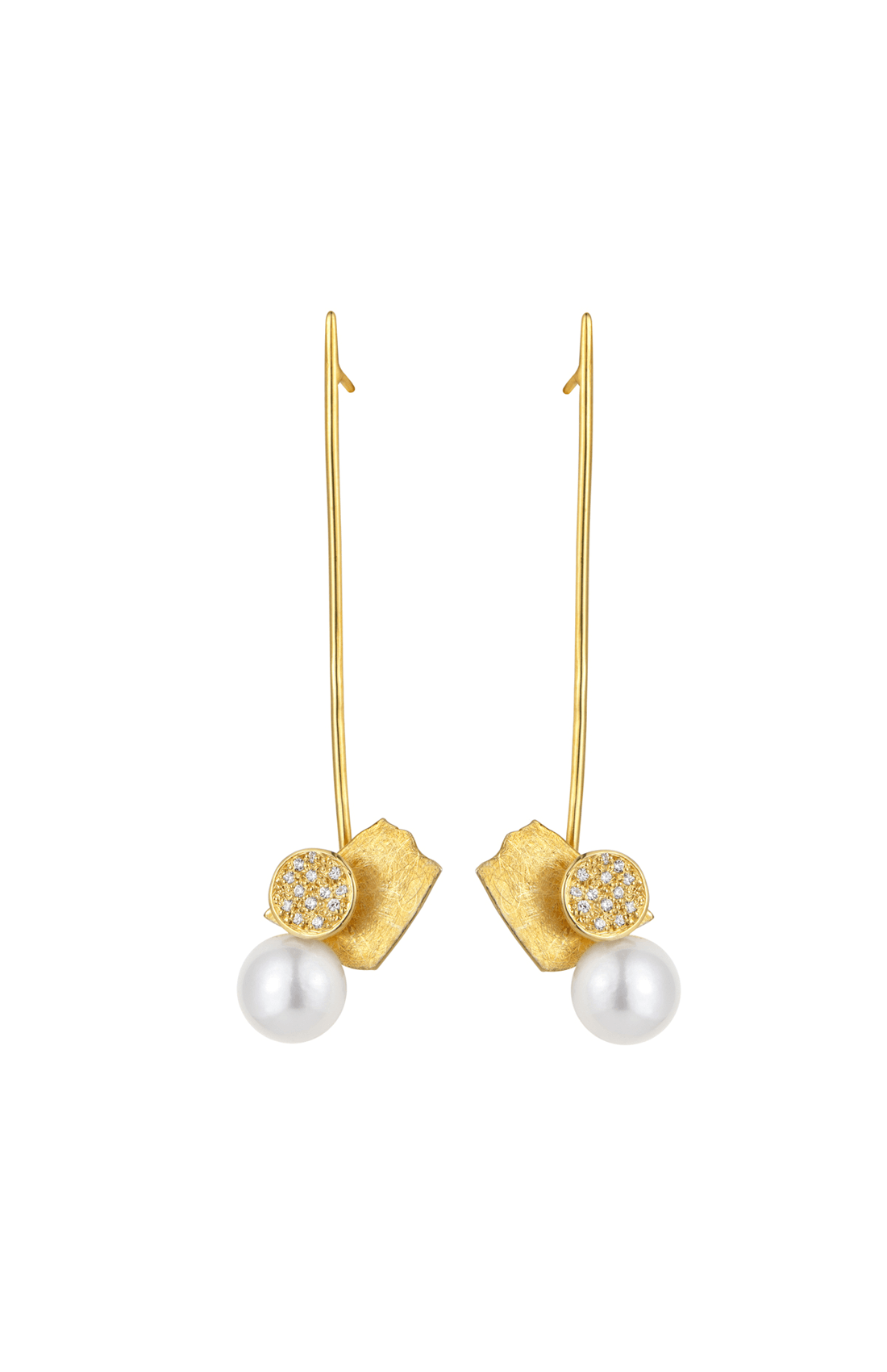 FRE003 - Fragments Pearl Long Earring