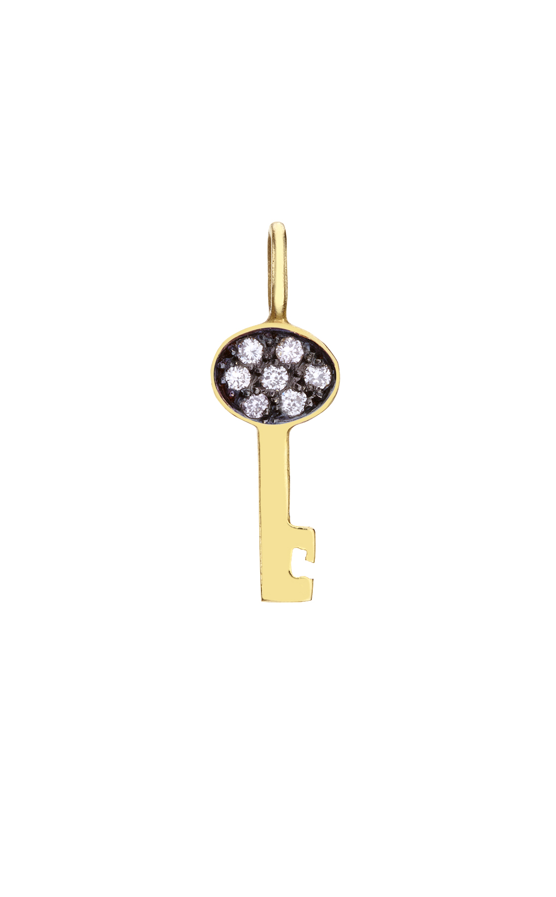 M023 - Lucky Key Diamond Pendant