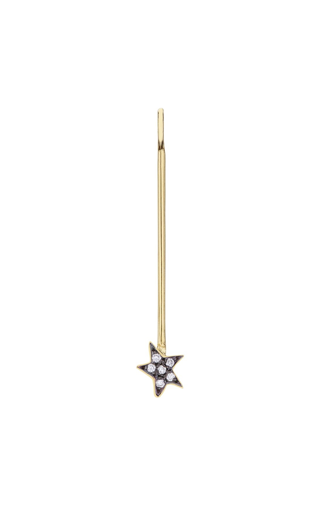 M020 - Long Star Diamond Pendant